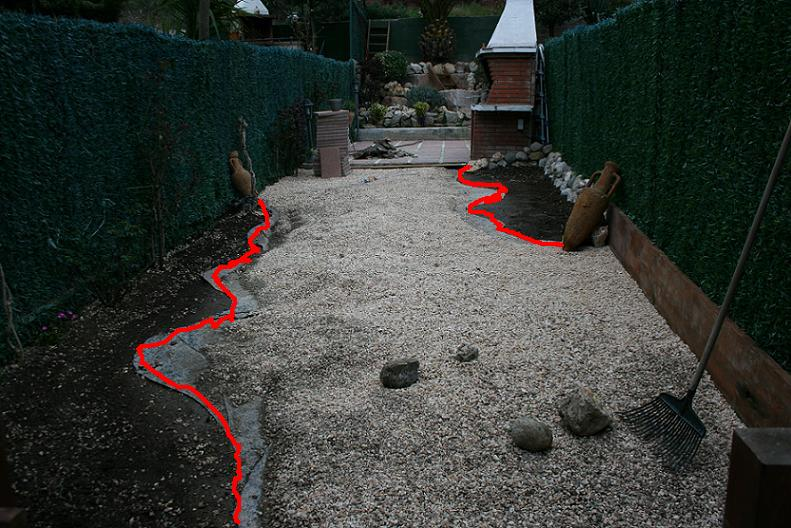 Jard n dif cil 13x4 m o sea un pasillo p gina 2 for Separador piedras jardin